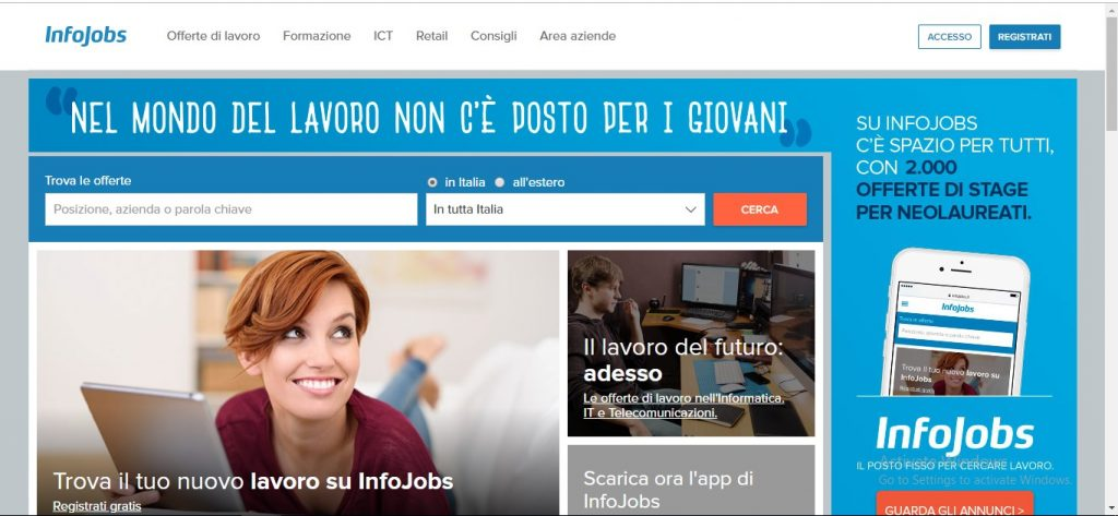 Infojobs Italy