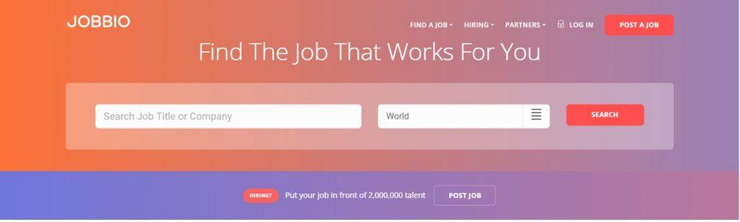 Jobbio - job sites in Italy