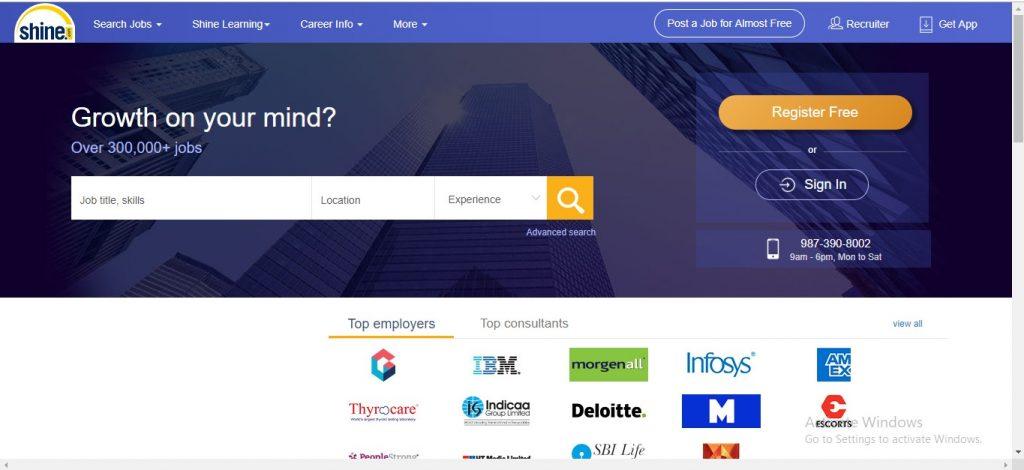 Shine Jobs India
