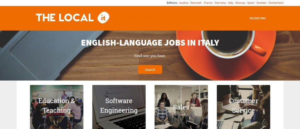The local Italy- job sites in Italy
