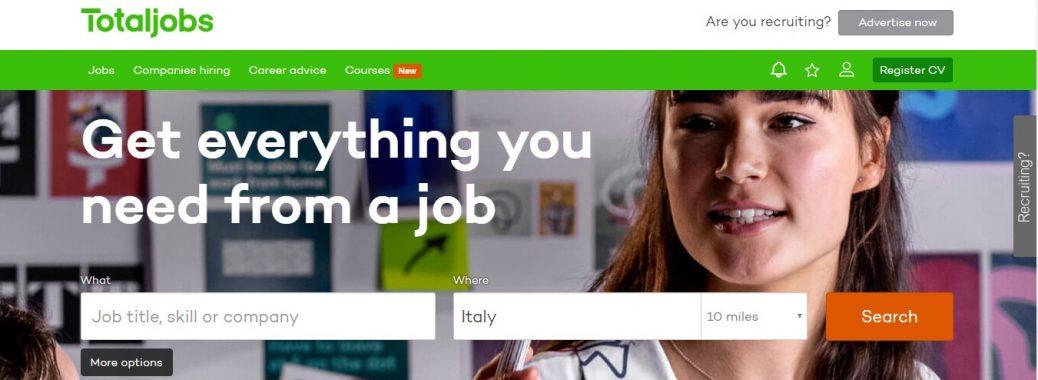 TotalJobs - job istes in Italy