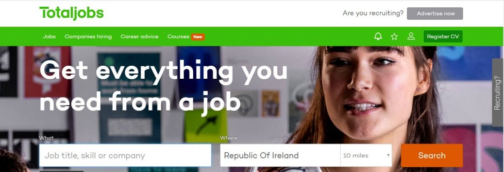 Totaljobs Ireland - best job sites Ireland