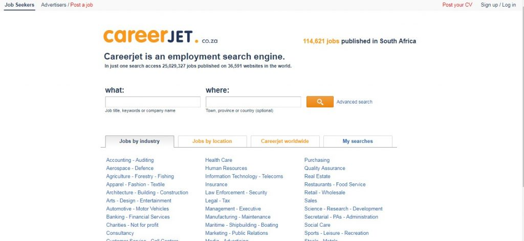 11 best job sites in South Africa - Screenshot, Features