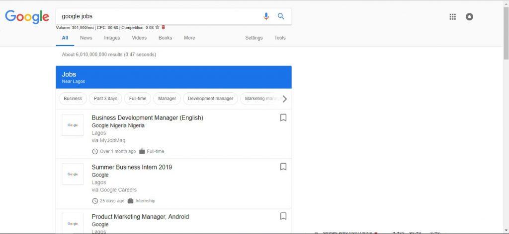 Google Jobs Canada