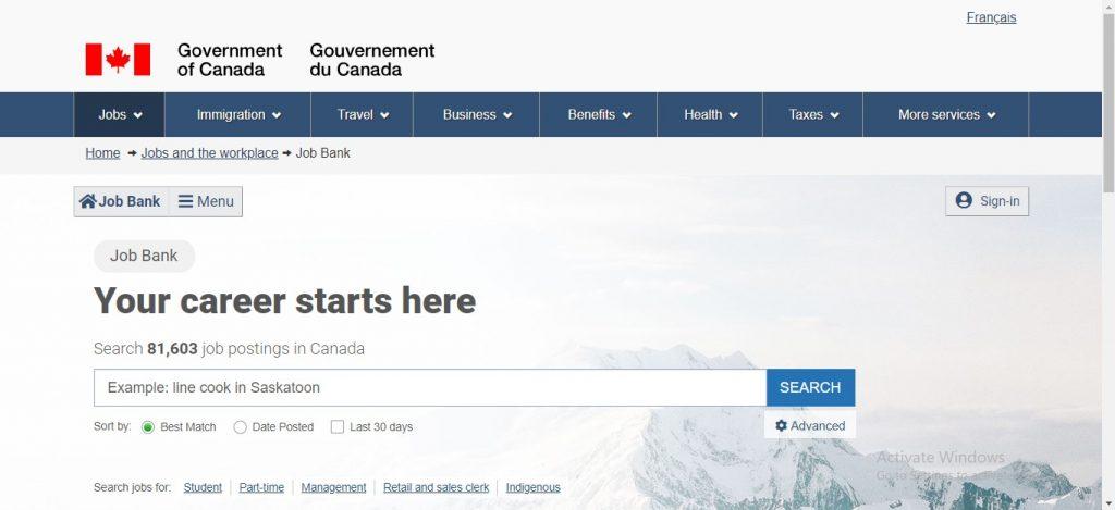 Job Bank Canada