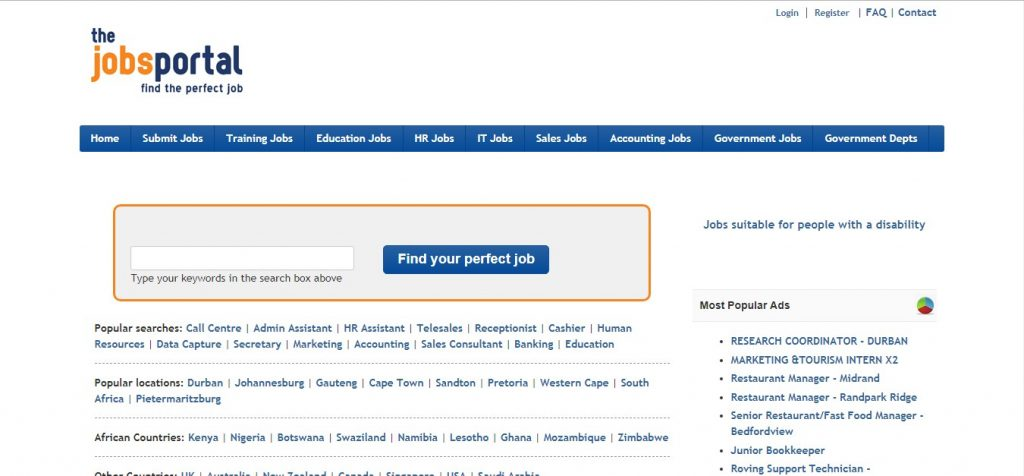 The jobs portal South Africa