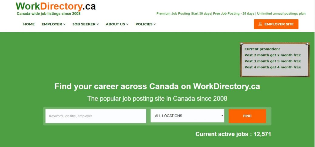 Workdirectory Canada