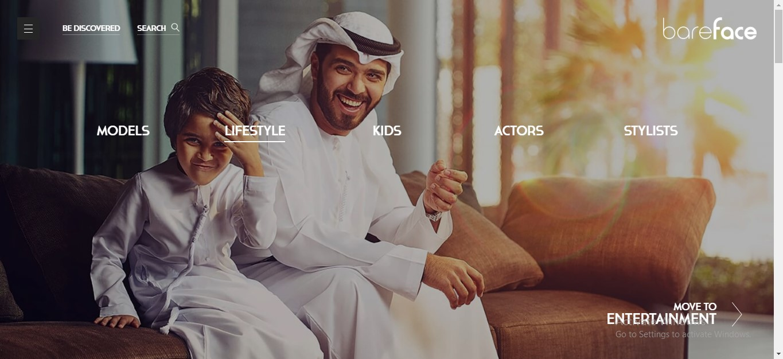 Bareface Talent agency Dubai