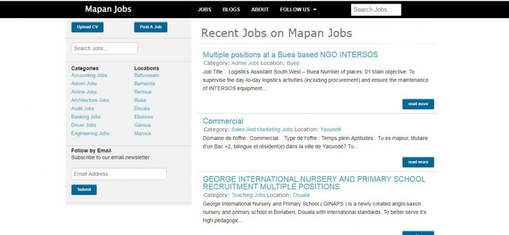 30 Job Sites in Cameroon - job portals and boards(Updated