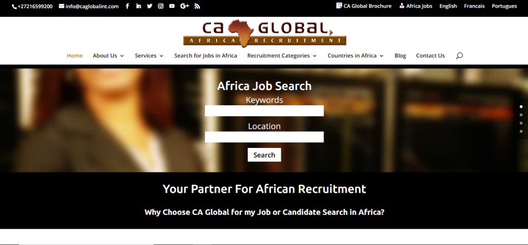 15 job sites in angola