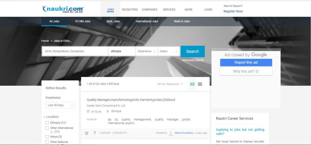 20 Job Sites in Ethiopia - Job portals and boards (updated for 2019