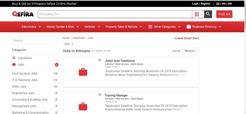 20 Job Sites in Ethiopia - Job portals and boards (updated