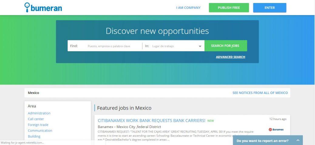 bumeran-job sites in mexico
