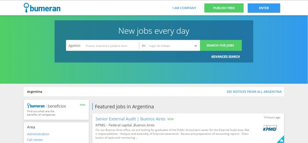 bumeran- jobs inargentina for expats