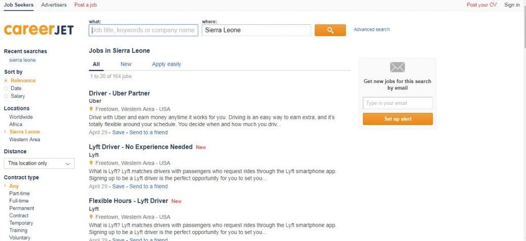 careerjet-job vacancies in sierra leone
