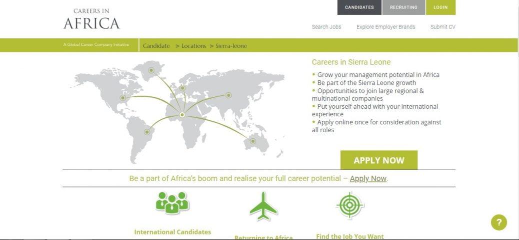careers in Africa- job vacancies in sierra leone
