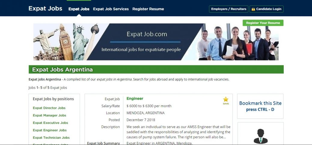 expat job- jobs in argentina for expats