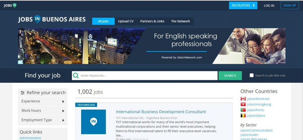 jobs in Buenos Aires - jobs in argentina for expats