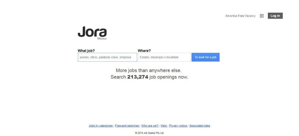 jora- job sites in mexico