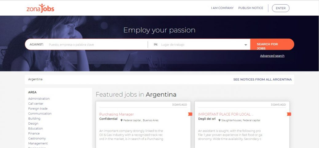 zonajobs-jobs in argentina for expats