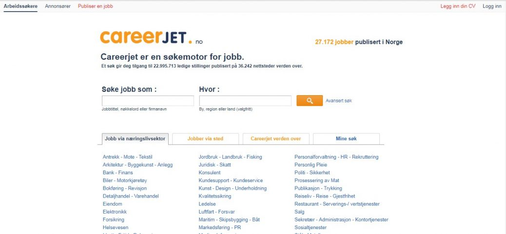 CareerJet Norway-job websites in norway