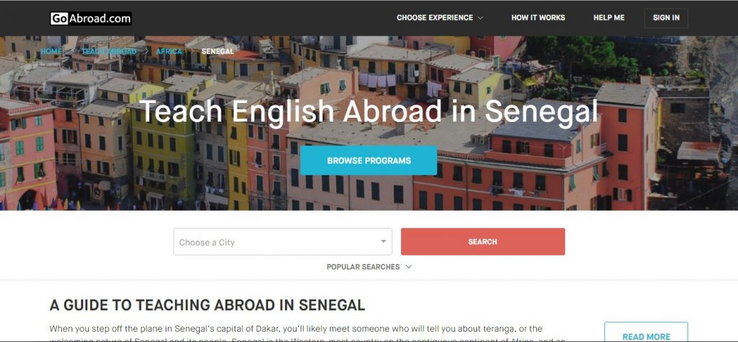 GoAbroad.com - jobs in senegal