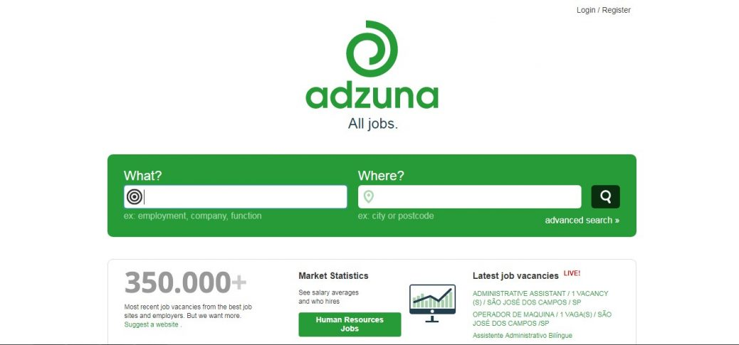 adzunna - job sites in Brazil