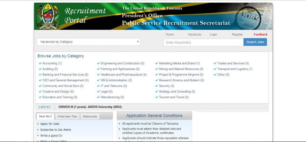 ajira recruitment portal-job sites in tanzania