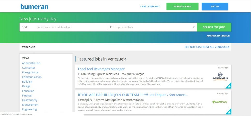 bumeran - jobs in Venezuela