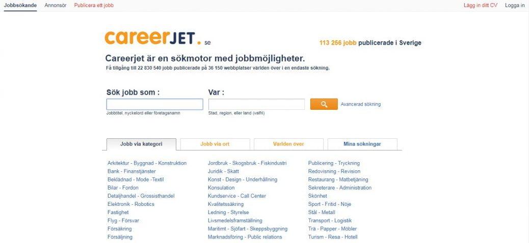 careerjet sweden - job portals in sweden