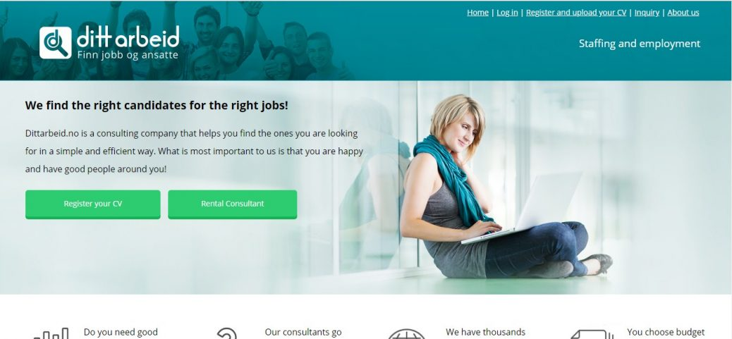 dittarbeid- job websites in norway