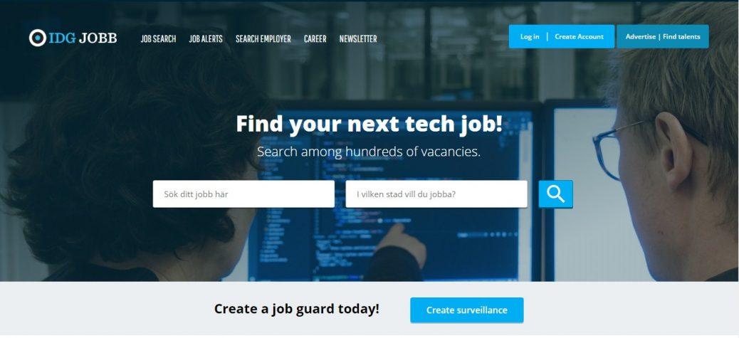 idg jobb - job portals in sweden