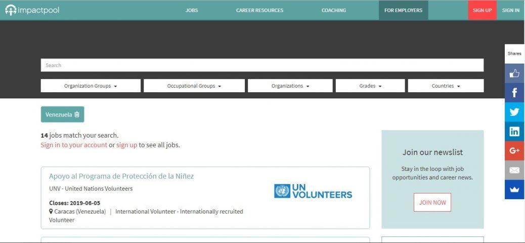 impactpool- jobs in Venezuela