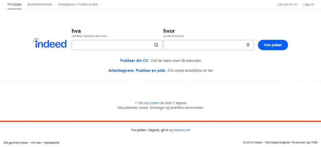 indeed norway-job websites in norway