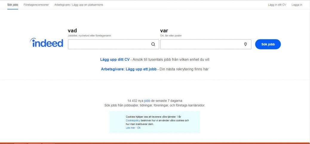 indeed sweden-job portals in sweden