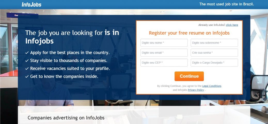 infojobs brazil - job sites in Brazil