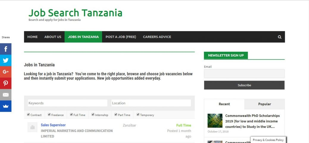 job search tanzania- job sites in tanzania