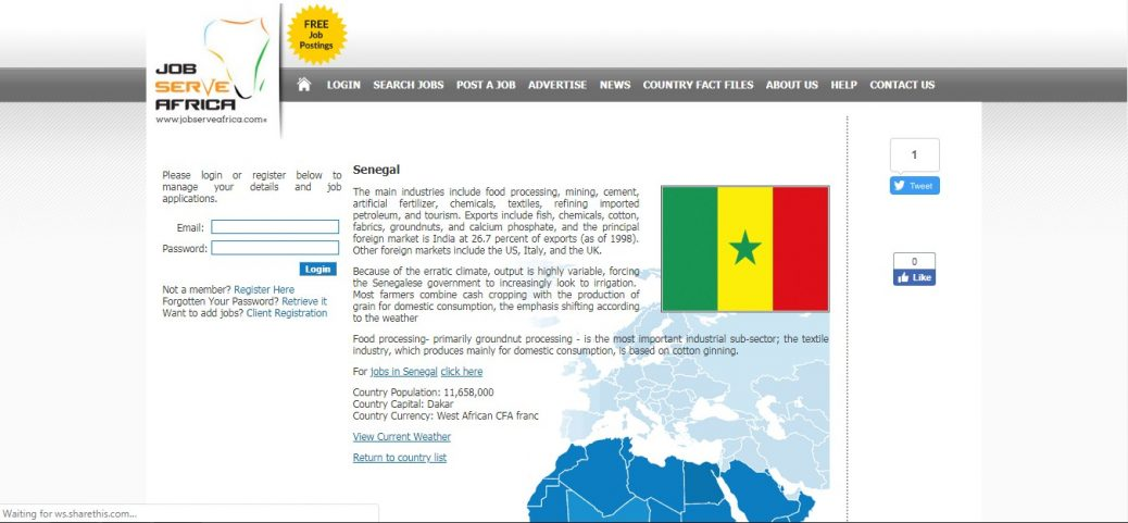 job serve africa - jobs in senegal