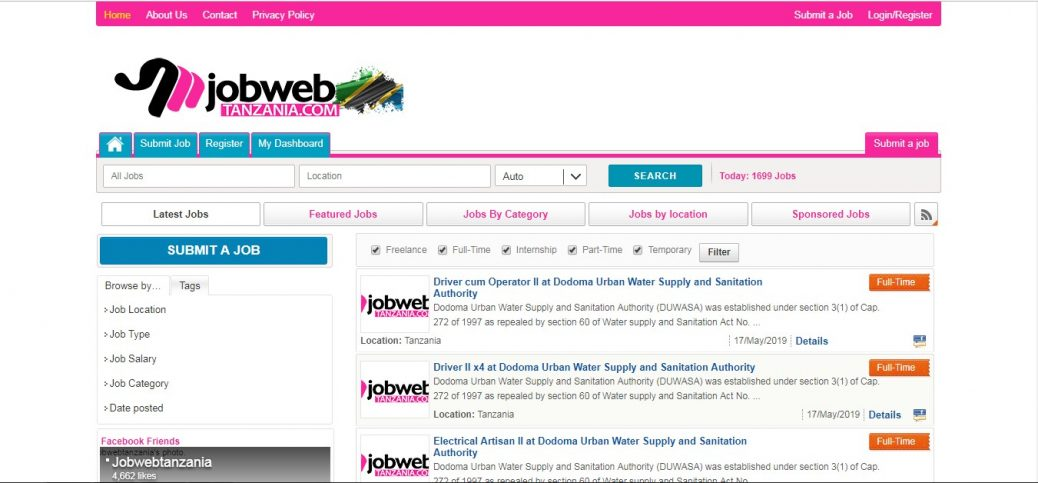 job web tanzania - job sites in tanzania