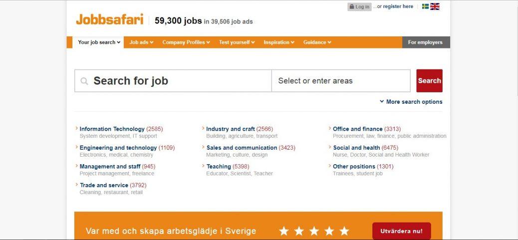 jobbsafari - job portals in sweden