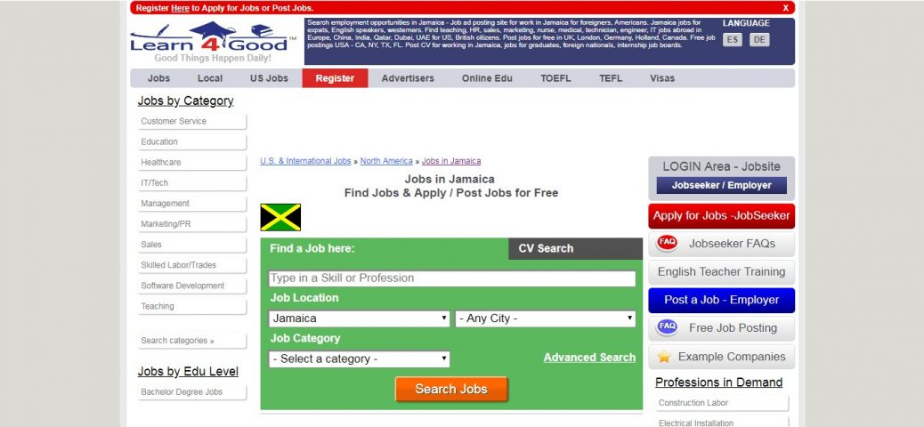 learn4good - job websites in jamaica