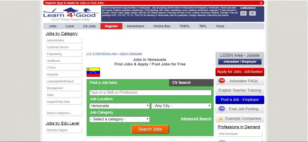learn4good -jobs in Venezuela
