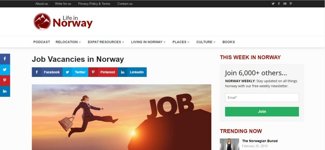 life in Norway-job websites in norway