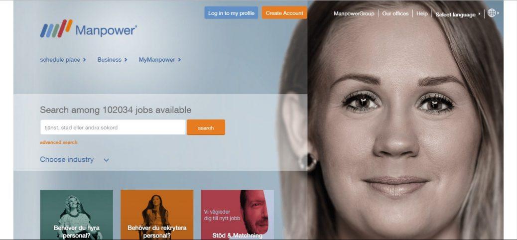 manpower - job portals in sweden