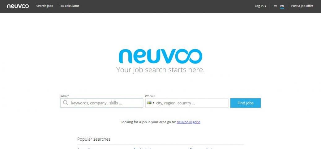 neuvoo - job portals in Sweden