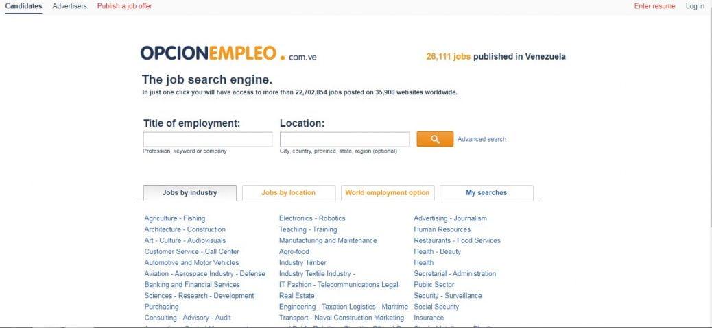 opcion empleo - jobs in venezuela