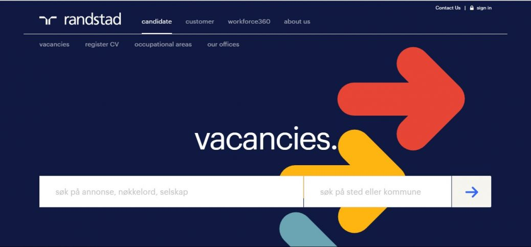 randstad-job websites in norway