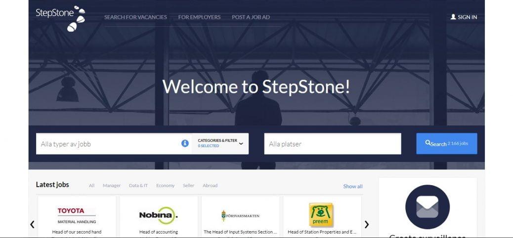 stepstone sweden- job portals in sweden