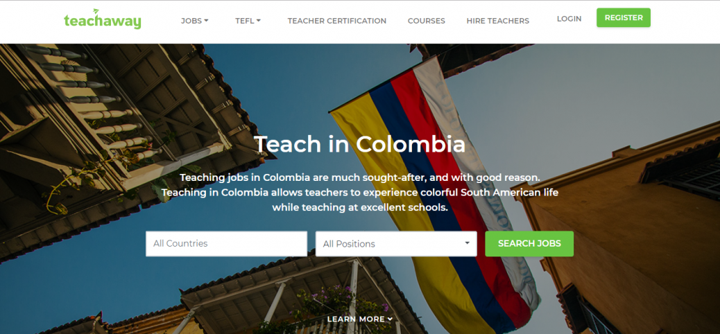 teach away-jobs in colombia for expats