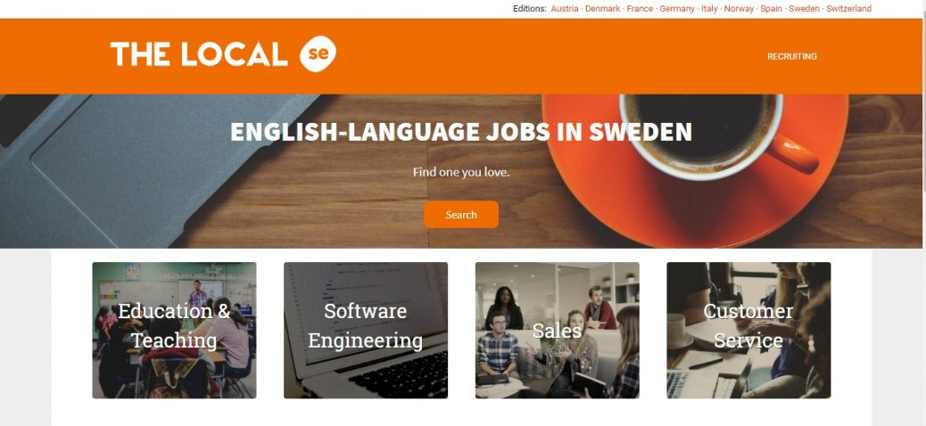 the local- job portals in sweden